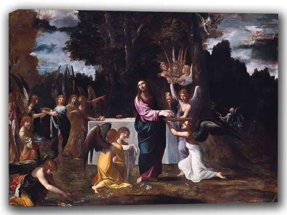Carracci, Ludovico: Christ in the Wilderness. Fine Art Canvas. Sizes: A4/A3/A2/A1 (002058)